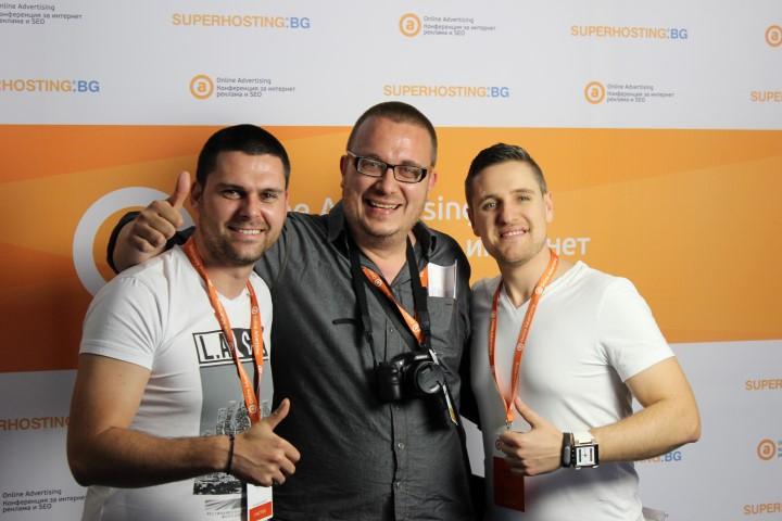 Никола Минков , Борислав Арапчев и Евгени Йорданов