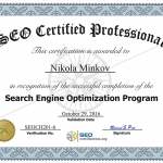 SEO Certified Professional 2016