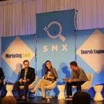 На снимката Ranna Zhou,Jeff Preston,Paul Shapiro за AMP на SMX West, San Jose, CA, USA