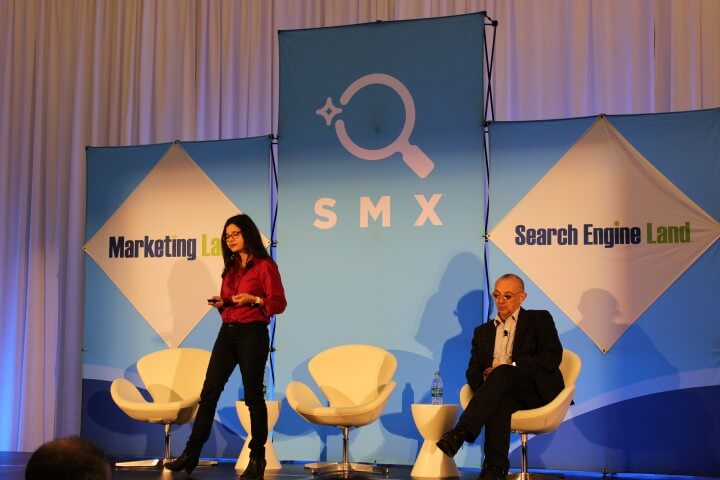 On the photo Aleyda Solis and Andy Atkins-Kruger on the international SEO optimization