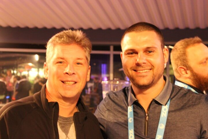 Danny Sullivan from Search Engine Land on the photo and Nikola Minkov from Serpact after a conversation at SMX West.