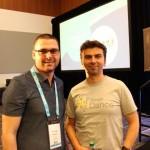 Gary Illyes от Google и Никола Минков от Serpact след разговор в SMX West