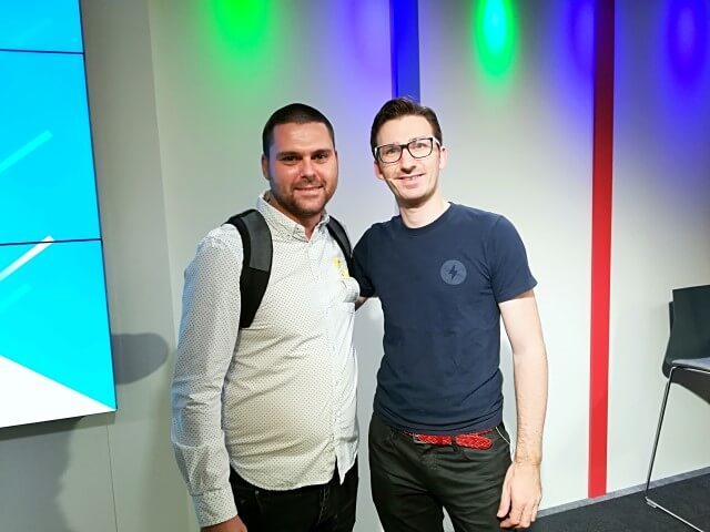 Nikola Minkov with Paul Bakaus - AMP Developer Advocate