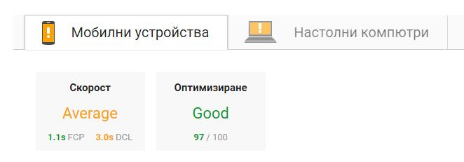 Промяна на GOOGLE PAGE SPEED INSIGHT