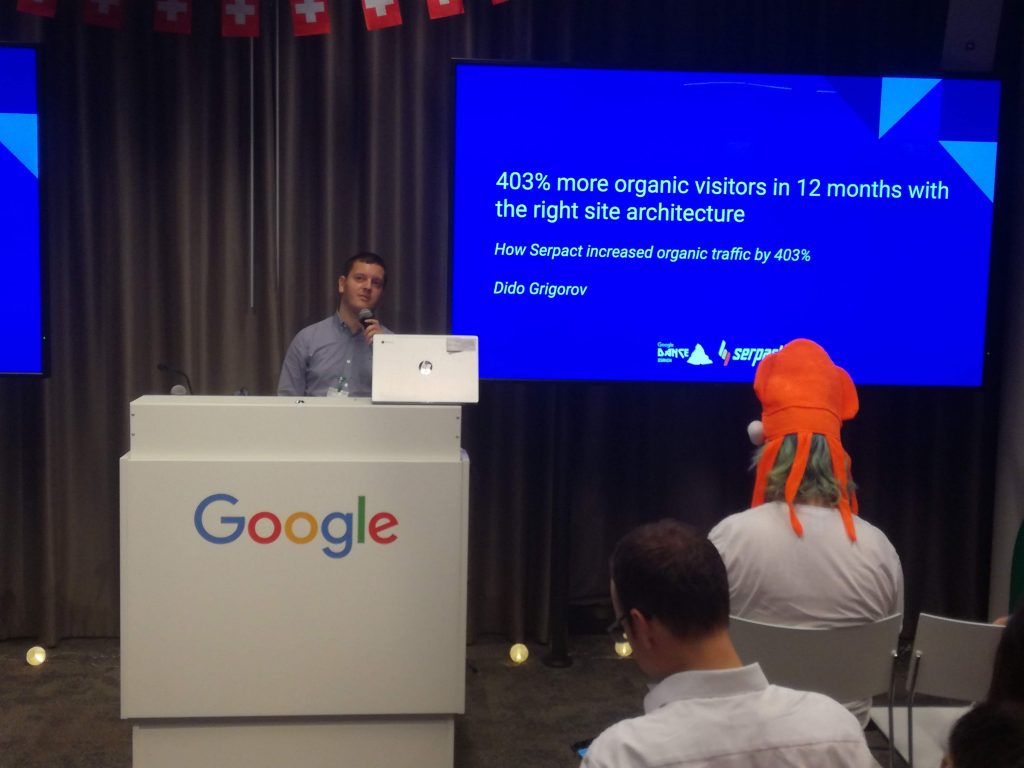 "Дидо Григоров /Serpact, Head of SEO/: ""403% more organic visitors in 12 months with the right site architecture"""