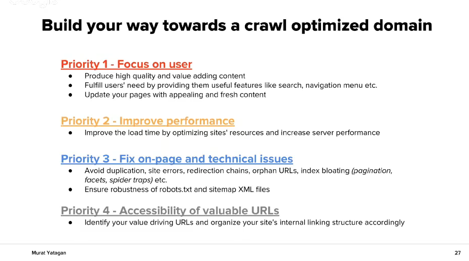 Съвети за crawl оптимизаран домейн