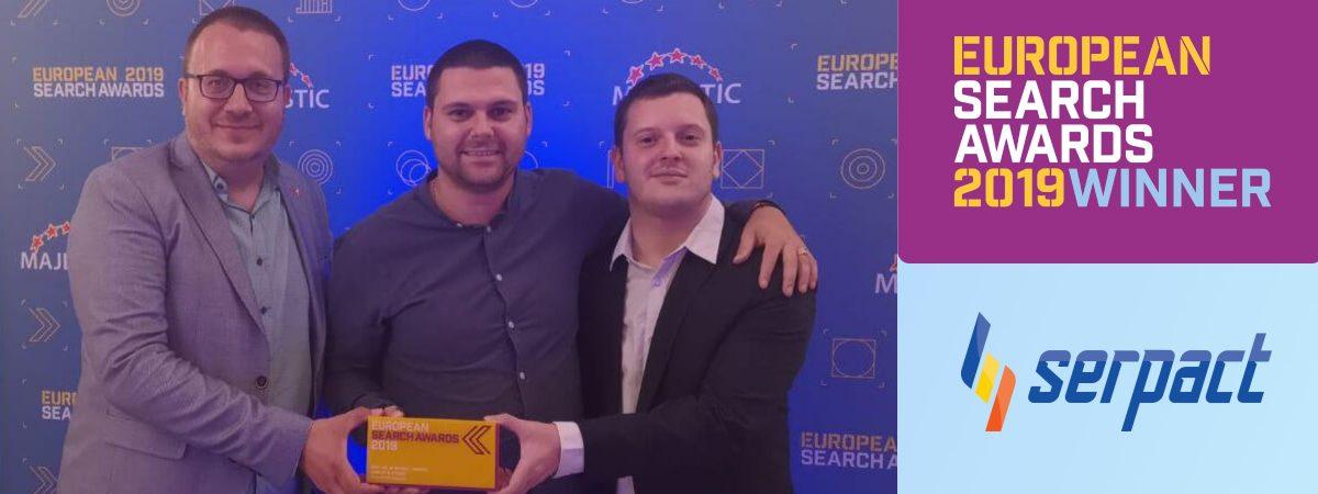 Serpact won European Search Awards 2019 – Gaming Category