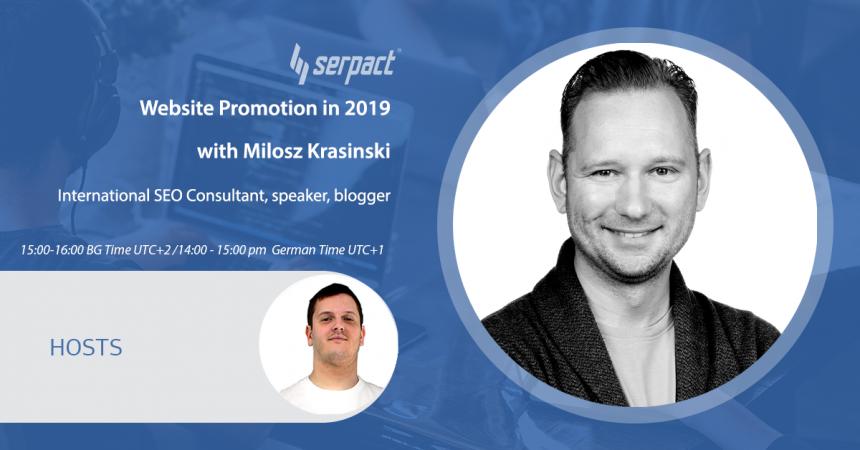 Website Promotion in 2019 With Milosz Krasinski