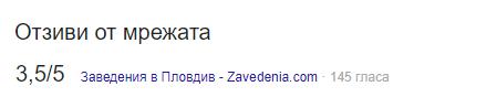 Гугъл сканира и извлича данни и от тях агрегира статистики за даденият обект от други източници - Facebook, Foursquare, Booking, Trivago, Foodpanda, Takeaway, Zavedenia.com, Agoda и подобни.