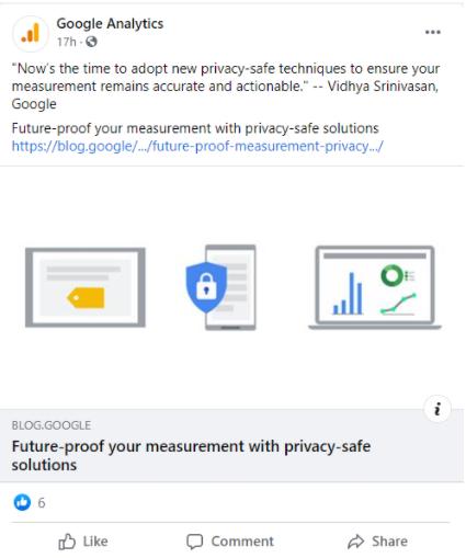 google analytics cookie policy fb post