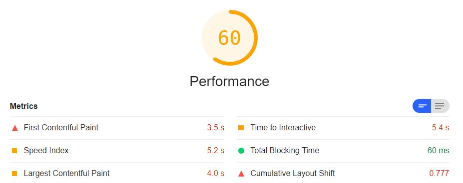 performance otchet tool
